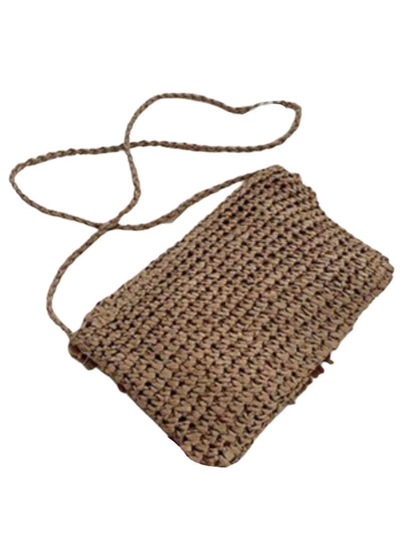 'Trinity' Soft Straw Cross Body Bag (2 Colors)