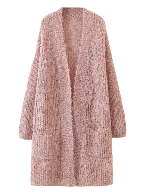 'Claire' Long Cardigan With Front Pockets (2 Colors)