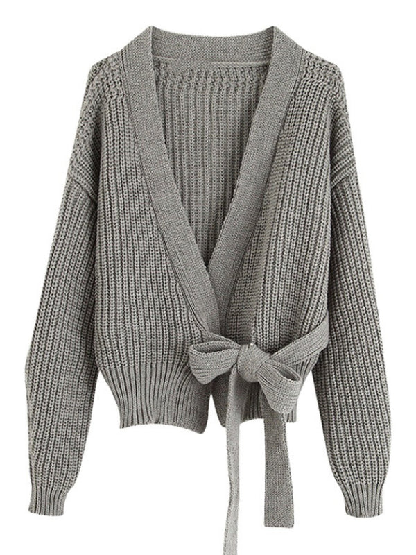 'Amelia' Open Wrap Tied Cardigan (3 Colors)