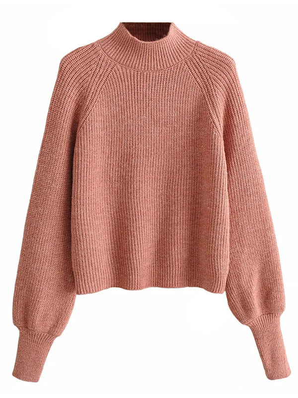 'Amber' Mock Neck Knit Sweater (3 Colors)
