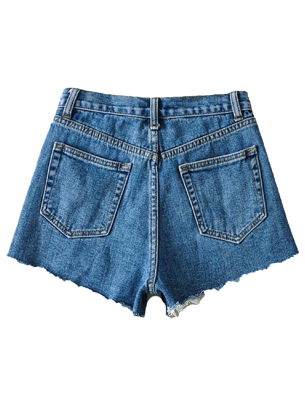 'Loren' Distressed Denim Shorts (3 Colors)