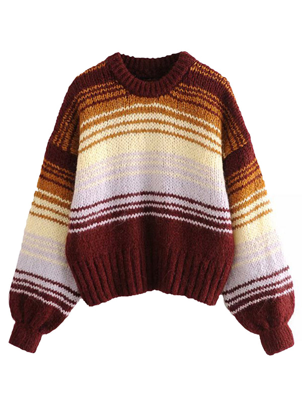 'Adriana' Crewneck Striped Sweater