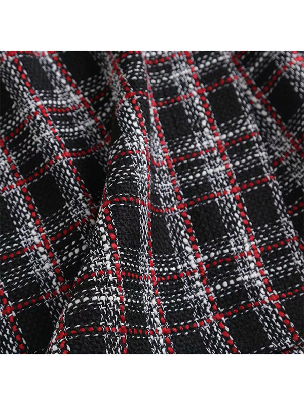 'Allyson' Red Plaid Mini Skirt