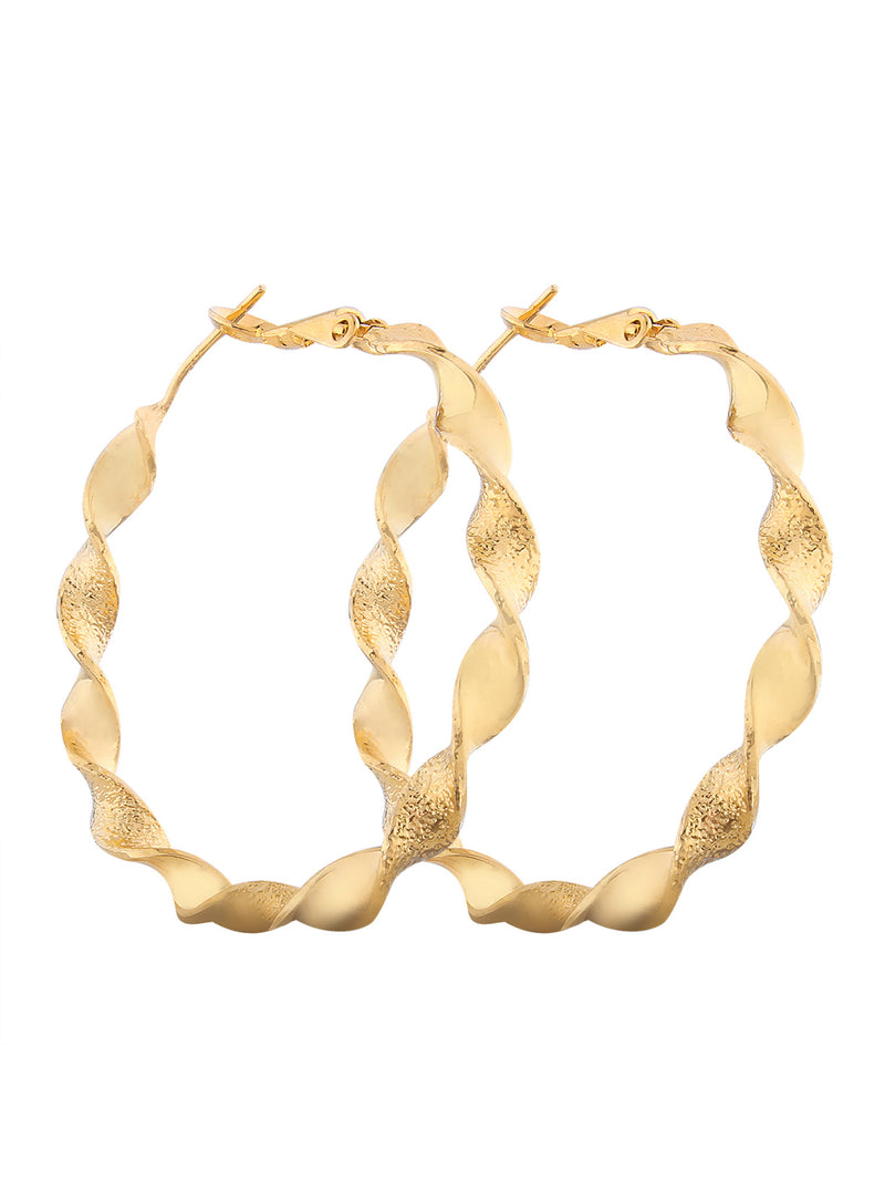 'Charlotte' Hemp Wreath Gold Hoop Earrings