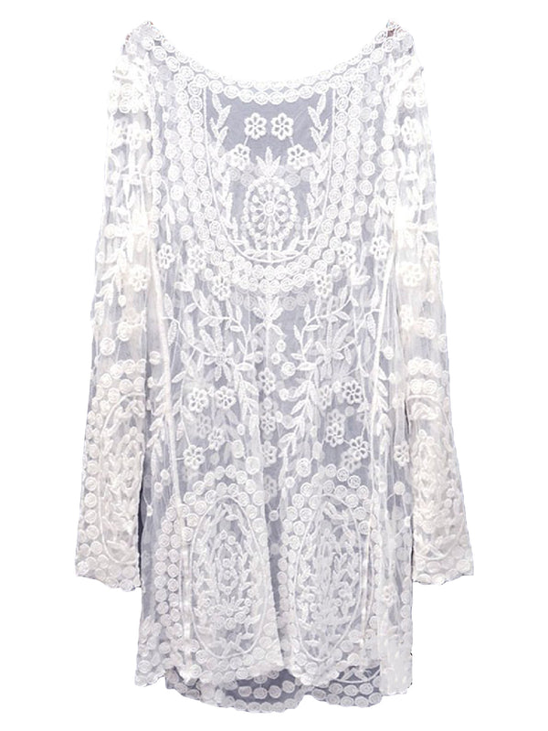 'Maddie' Lace Eyelet Beach Cover-up