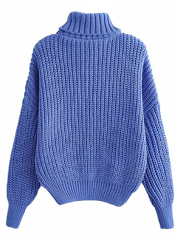 'Adele' Turtleneck Cable Knit Sweater (4 Colors)