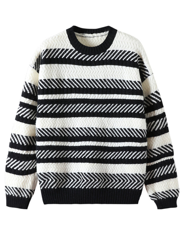 'Andrea' Crewneck Striped Sweater (3 Colors)