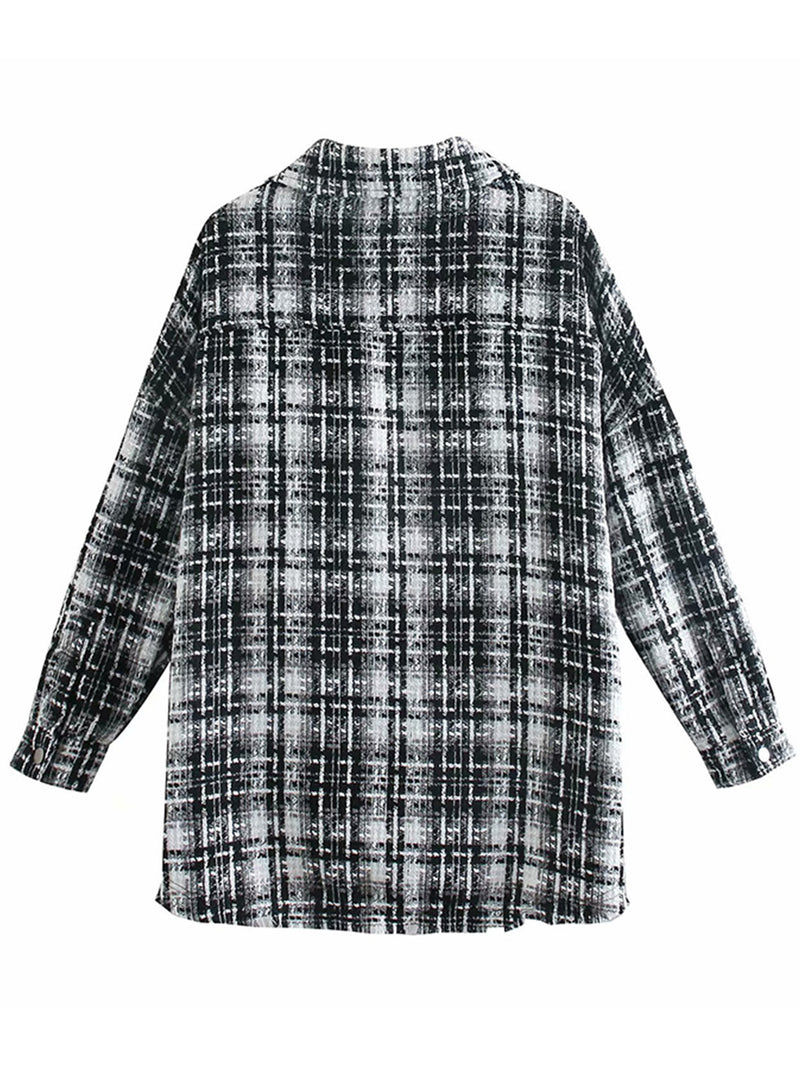'Shannon' Thick Plaid Shirt With Pockets