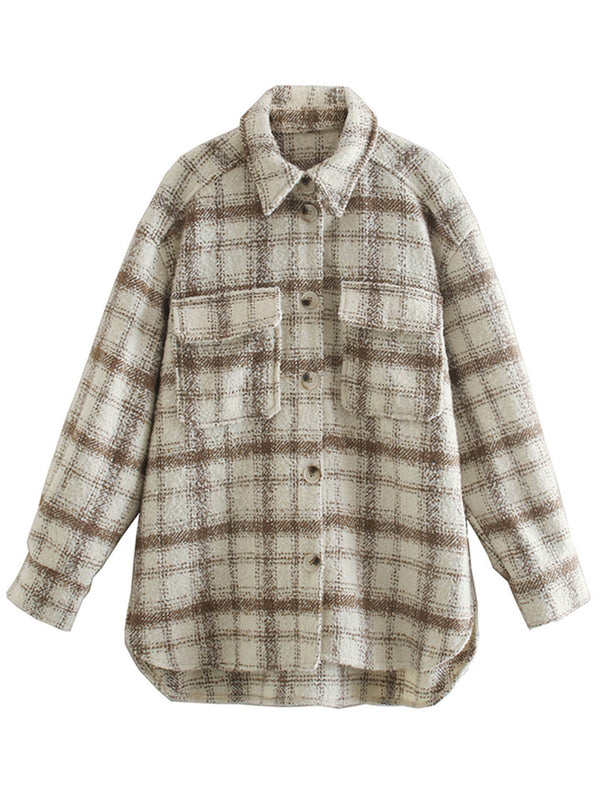 'Cindy' Thick Plaid Shirt with Pockets  (2 Colors)