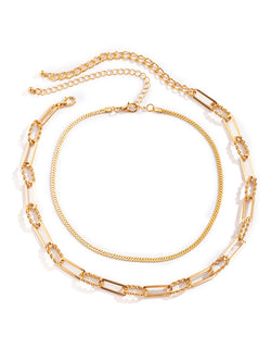 'Simone' layered Chain Necklace