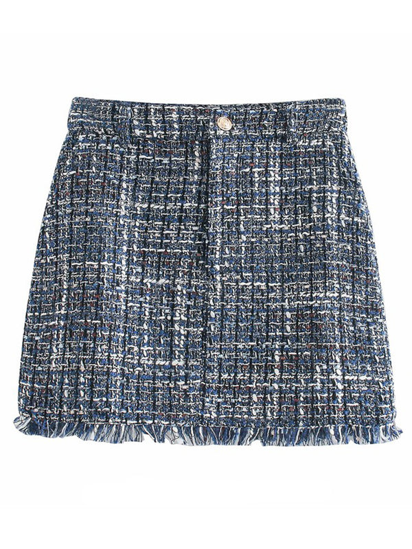 'Stephanie' Tweed Mini Skirt