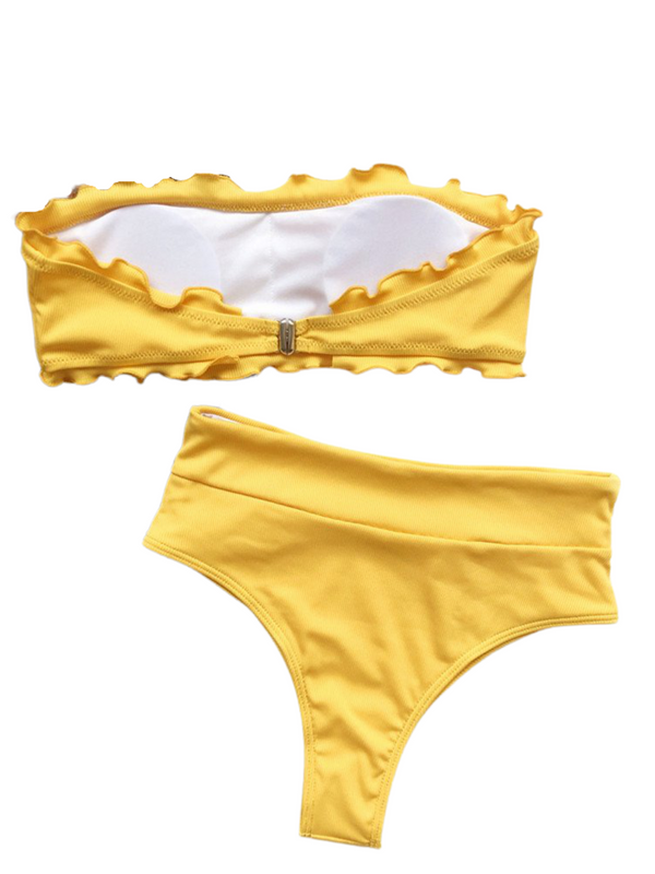 'Brittany' Ruffled High Waist Bikini