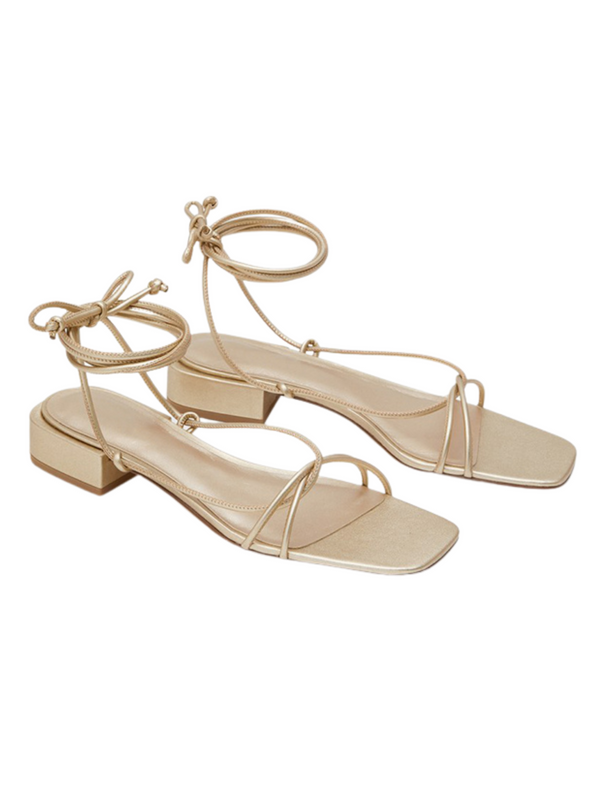 'Isabella' Lace-Up Strappy Thong Sandals (2 Colors)