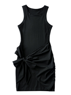 'Aimee' Front Tied Wrap Tank Dress (4 Colors)