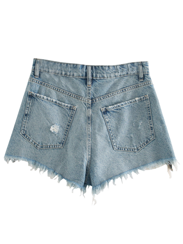 'Molly' Lined Distressed Denim Shorts (3 Colors)