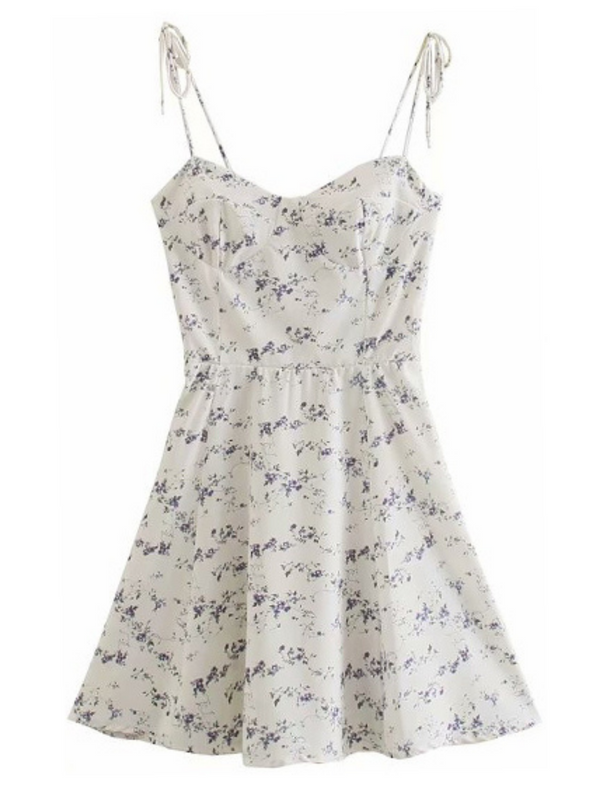 'Brenna' Floral Tied Strap Mini Dress