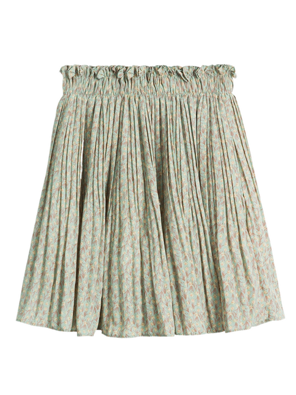 'Heidi' Floral Pleated Mini Skirts