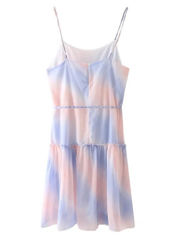 'Kennedy' Tie Dye Waist Tied Mini Dress