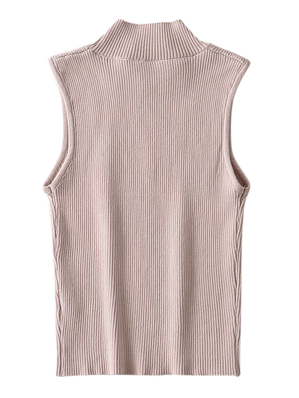 'Jessica' Ribbed Sleeveless Top