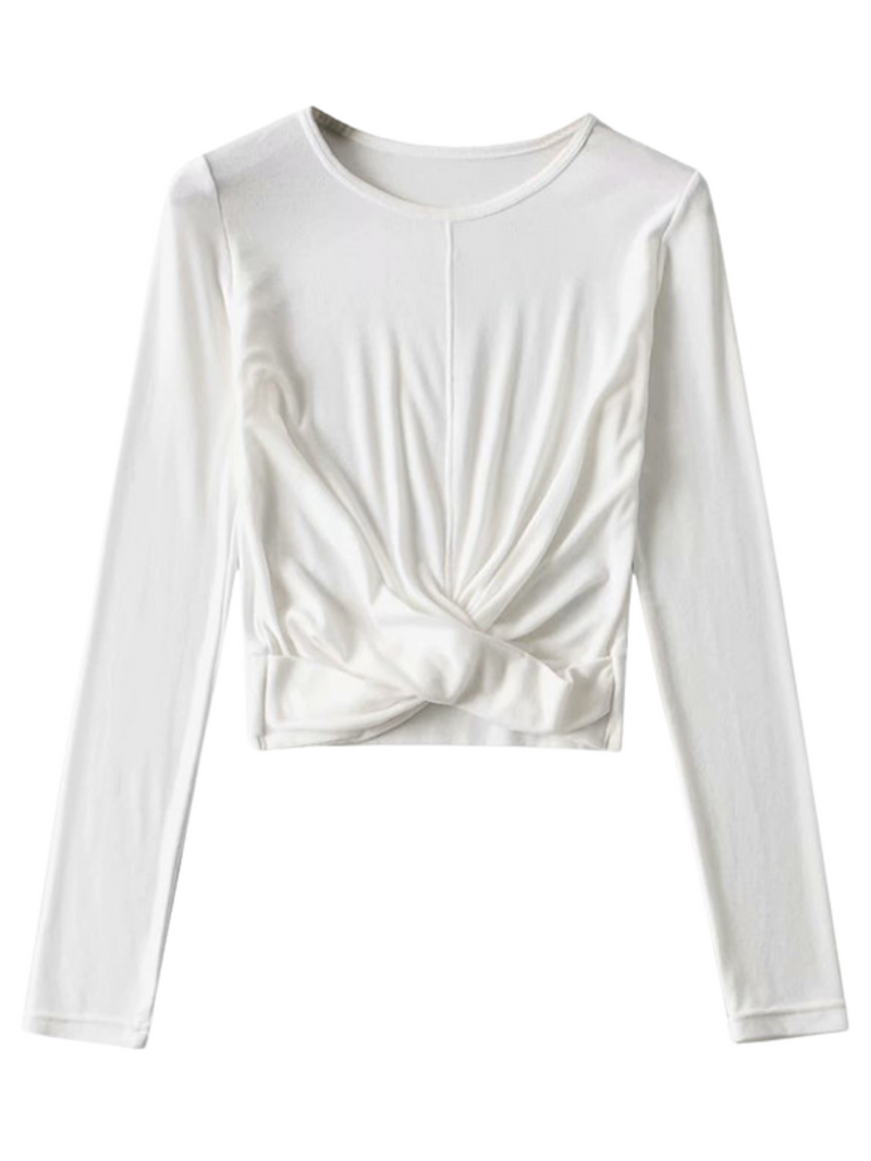 'Sofia' Long Sleeves Twisted Top (3 Colors)