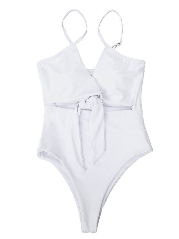 'Michelle' Front Tied One Piece Swimsuit (3 Colors)