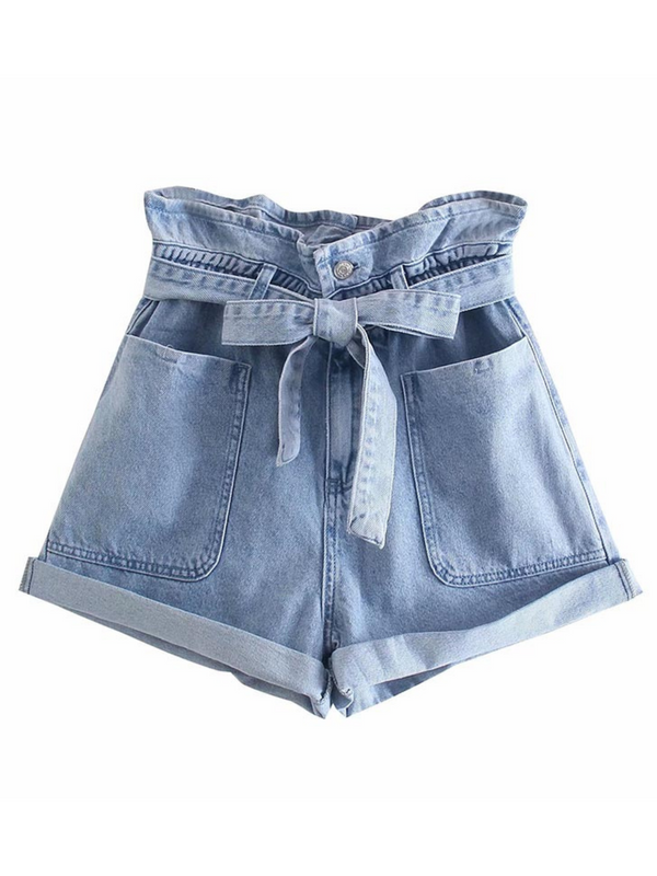 'Johanna' 4 Buttons Paper Bag Shorts (3 Shorts)