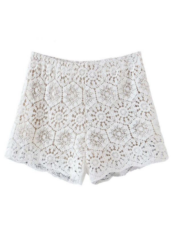 'Oydis' Crochet Lace Shorts