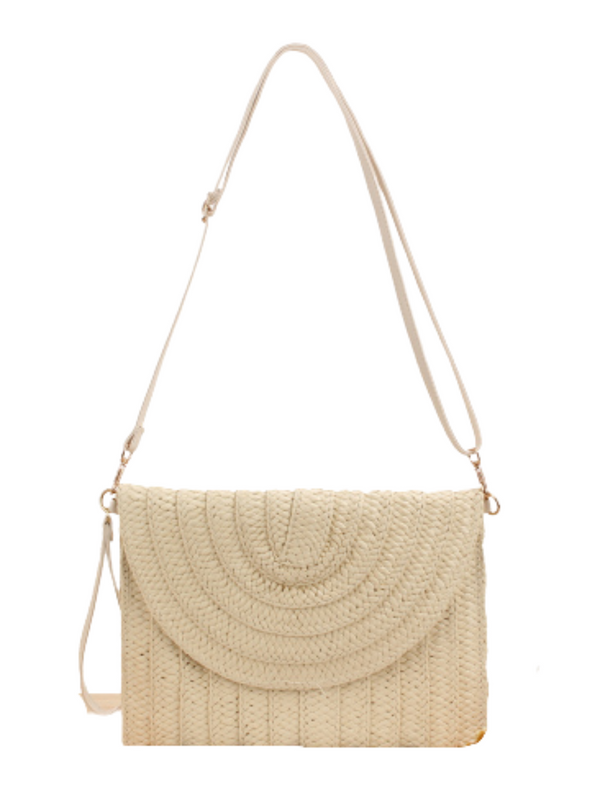 'Selina' Rattan Clutch/ Shoulder Bag (3 Colors)