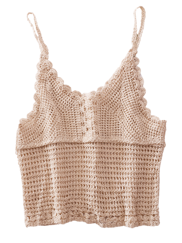 'Annie' Crochet Cami Top (5 Colors)