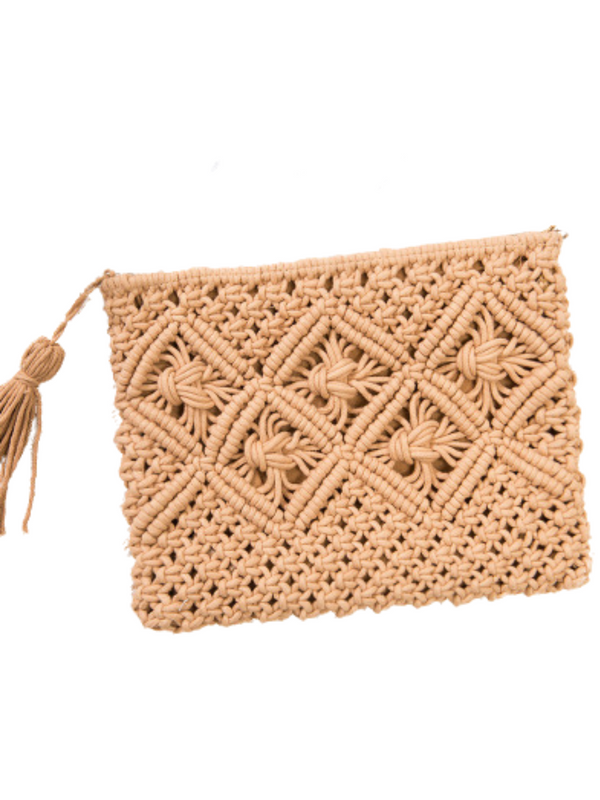 'Jacobina' Net Braided Clutch (4 Colors)
