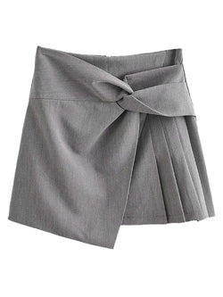 'Eunice' Twist Mini Skirt