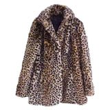 'Ora' Leopard Faux Fur Coat