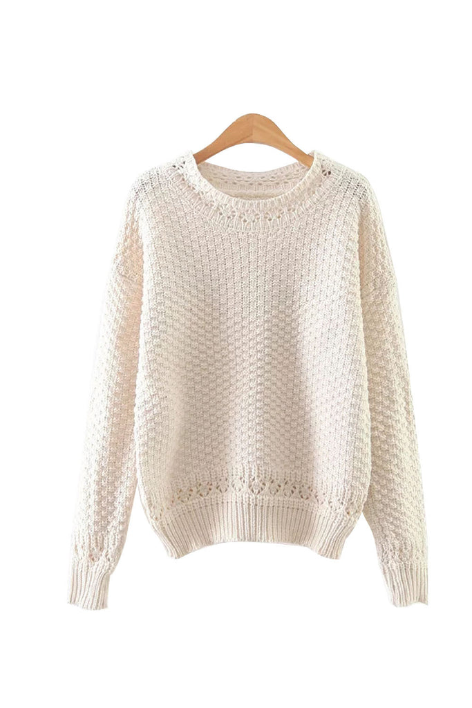 'Verity' Knitted Crewneck Sweater from Goodnight Macaroon