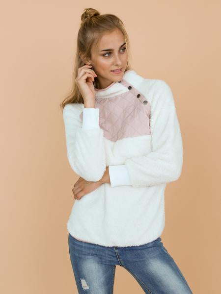 'Vincy' Sherpas Quilted Fluffy Sweater (4 Colors)