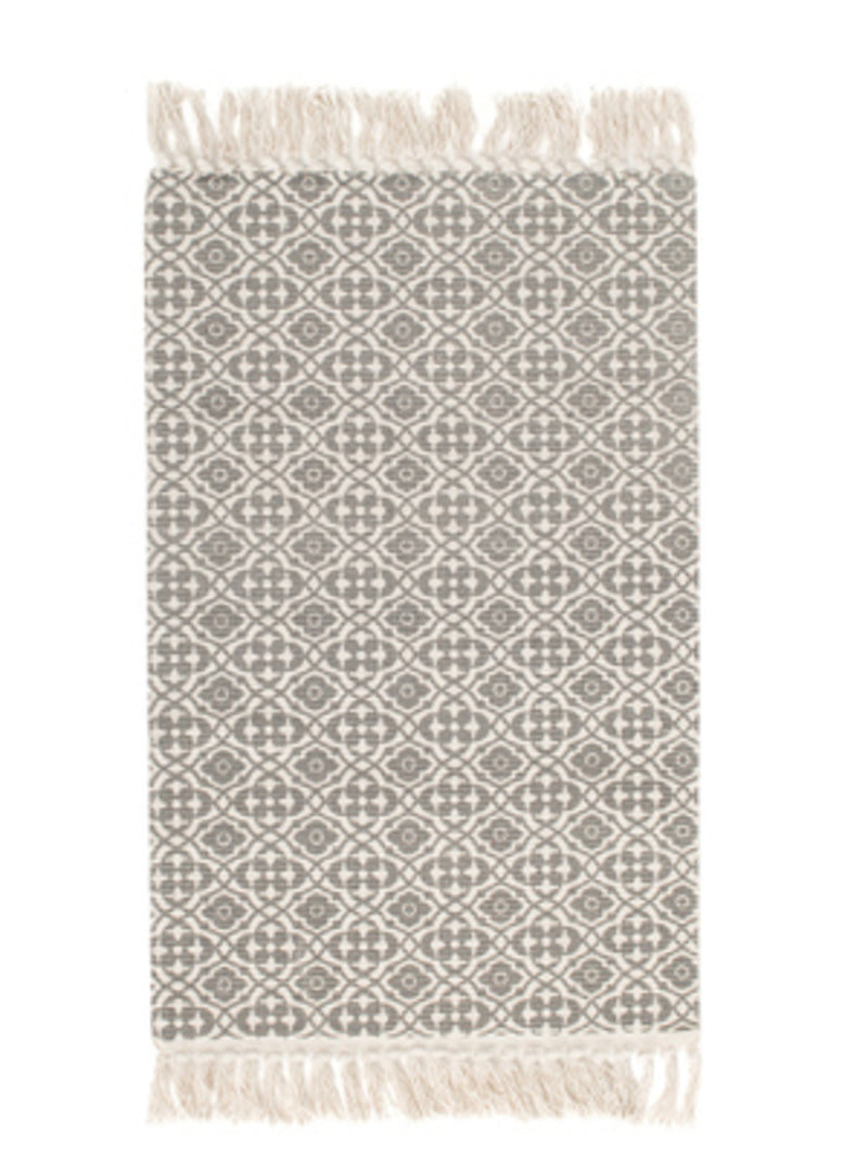 'Mourad' Aztec Print Bohemian Fringed Rug (5 Colors)