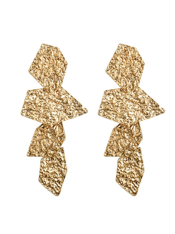 'Constance' Irregular Geometry Drop Earrings (2 colors)