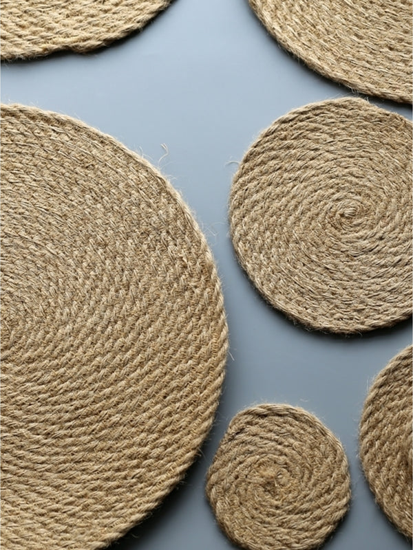 'Nadiah' Linen Table Mat & Coaster Set (Set of 4)