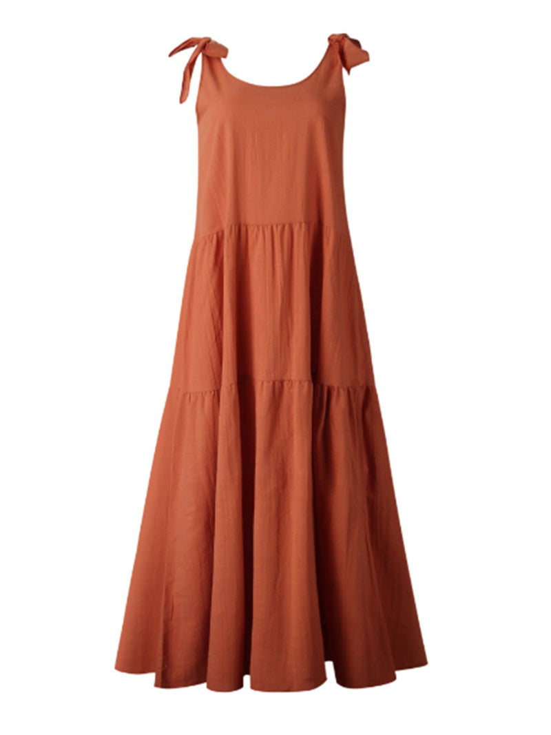 'Yasmeen' Tie Strap Dolly Maxi Dress (3 Colors)