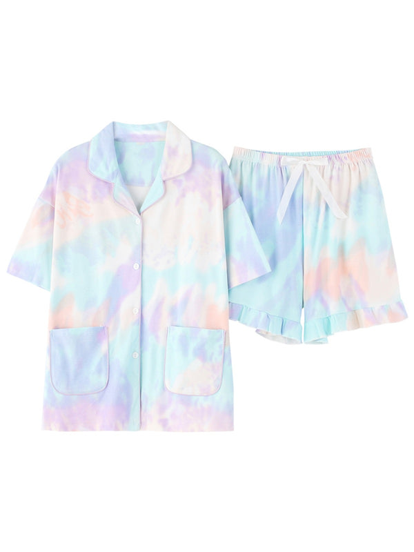 'Jessie' Tie Dye Button Down PJ Set