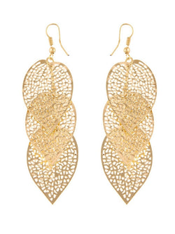 'Gemma' Leaf Shaped Drop Earrings