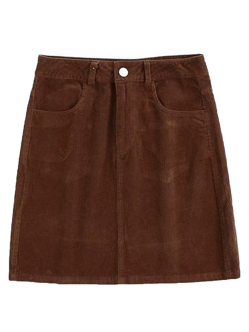 'Sidney' Corduroy Mini Skirt With Pockets (3 Colors)