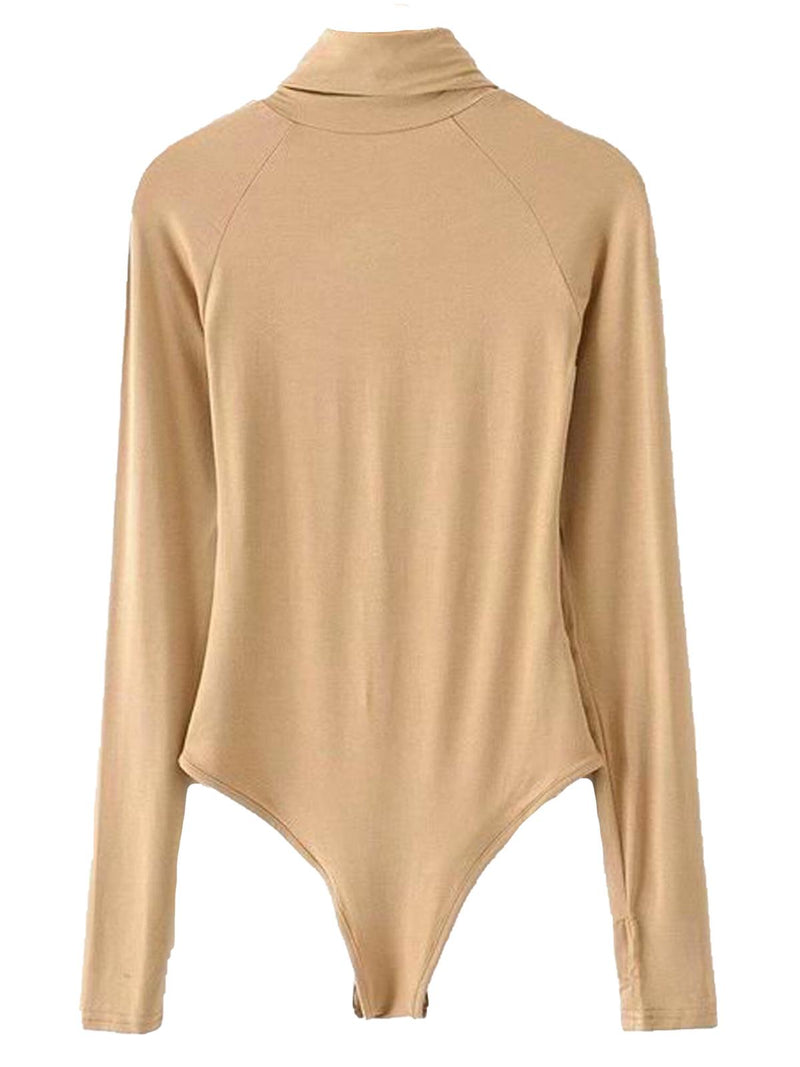 'Erika' Turtleneck Cutout Long Sleeves Bodysuit (3 Colors)
