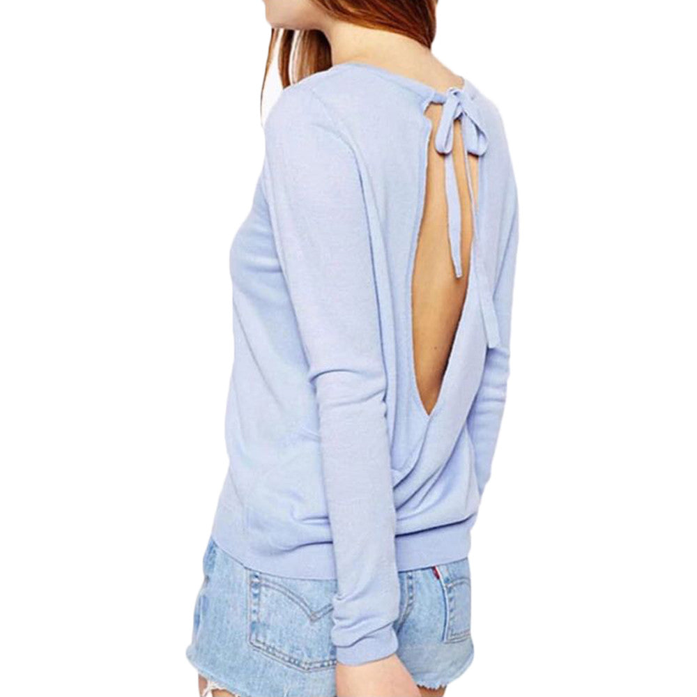 goodnight macaroon keyhole cut out baby blue sweater