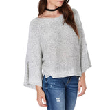 Heather Grey Marl Knit Sweater