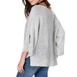 goodnight macaroon Heather Grey Marl Knit Sweater