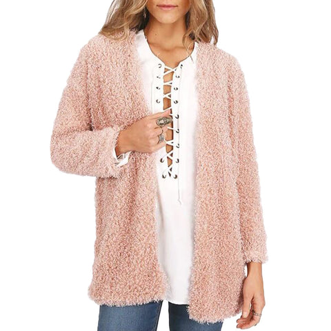 Soft Fuzzy Blush Pink Jacket