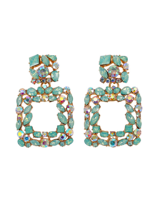 'Barry' Rectangle Studs Drop Earrings (4 colors)