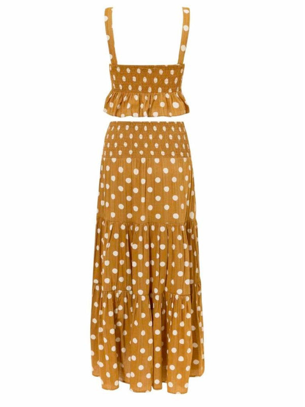 'Carin' Polka Dot Dress Two-set