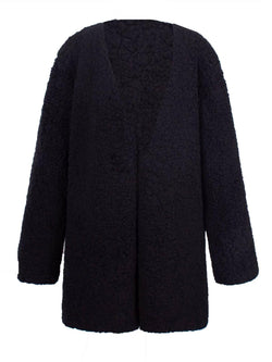 'Carlyle' V-neck Teddy Bear Coat (5 Colors)
