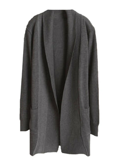 'Laura' Lapel Open Front Cardigan